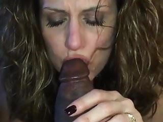 Wife awaiting husband with bbc in mouth