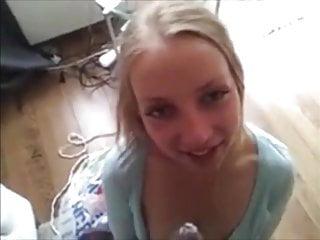 Dutch blonde amateur young teen love throatfuck