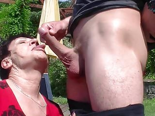 Granny loves his young and hard dick