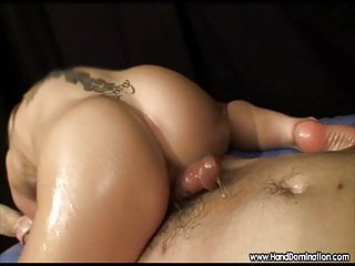 very sensitive cock and a hot blonde