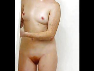 hairy redhead shower