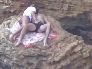 Beach Voyeur - Young couple playing (pt1)