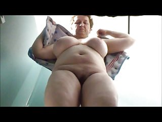 Granny with big boobs in poolcabin