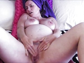 Pregnant MILF Masturbates after Shower