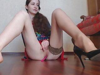 Sexy girl with heals upskirt