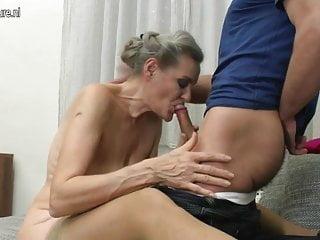 Granny suck and granny fuck young boy