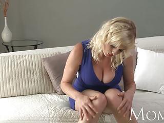 MOM Blonde MILF lets us watch her finger herself to orgasm