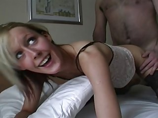 Amateurs are fucked and suck strangers cocks