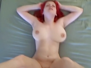 Orgasmic bouncing boobs fucked hard by young BF