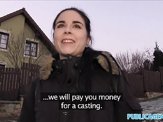 Public Agent Spanish Student fucks for party cash