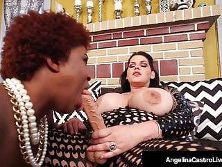Hot Latina BBW Angelina Castro StrapOn Fucks Ebony Maserati!
