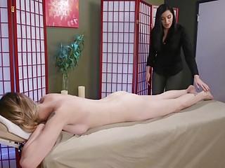TS Casey Kisses Fucks Her Masseuse Cassandra Cain
