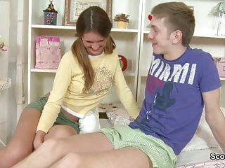 Step-Bro Caught Sister Masturbation and want to Fuck her