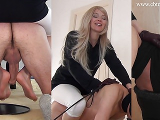 Footjob for pony-slave