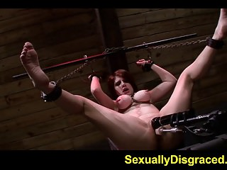 Chained up Velma DeArmond on a fucking machine with big dild