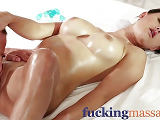 Massage Rooms Beautiful big tits girl squirts