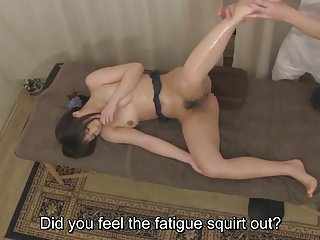 Subtitled Japanese clinic massage oral sex service in HD
