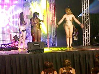 sexy lady amateur public nude party striptease contest