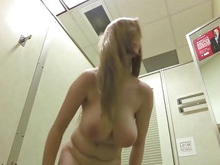 Teen with huge tits trying clothes