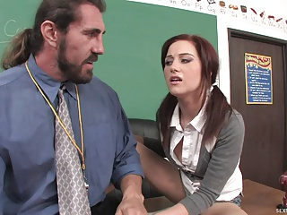 Wet Horny Schoolgirl Fucked Hard On Teacher's Desk