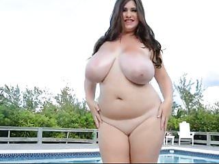 juicy chubby with big natural tits pleasing herself