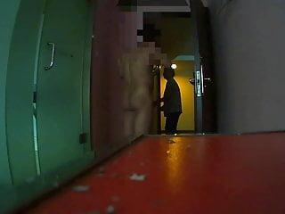 Flashing The hotel maid (3)