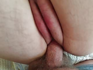 Huge Tits and Ass BBW Milf Shaved Cunt Filled With Cum