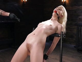 Young Blonde Slut in Diabolical Device Bondage