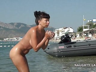 I'm taking mud bath... nude in public