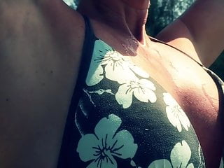 Young stepmom sucking and fucking on the beach