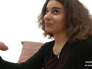Young french arab 1st anal double P n facial for her casting