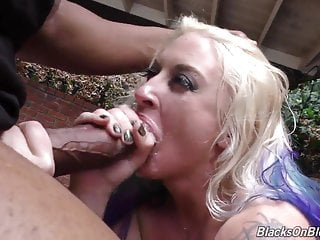 Perfect slut Leya takes biggest black cocks and gets bukkake