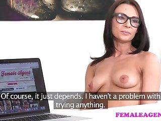 FemaleAgent Perfect lesbian casting with masturbation