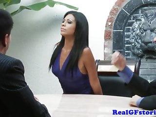 Beautiful cheating latina housewife swallows