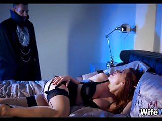 Seductive wife has a Dracula Fantasy