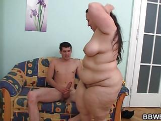 Big ass fatty rides stranger's cock