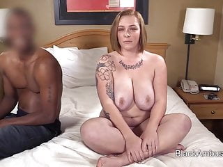 Big Tits Redhead BBW Surprised By Big Black Cock