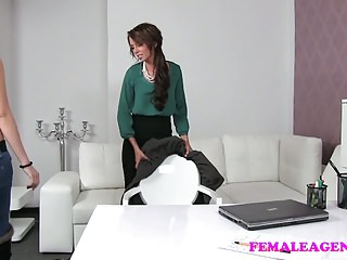 FemaleAgent Cute virgin breaks her sexual boundaries