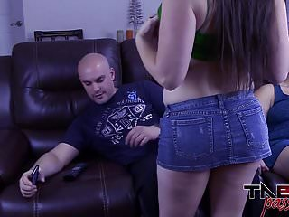 Big Tits Melanie Hicks in Daughter Fucks Dad while Mom Out