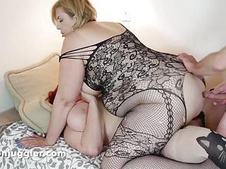 Husband & Wife team fuck girlfriends ass