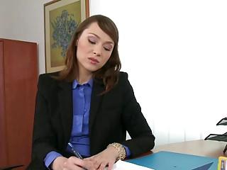 Sexy Secretary Threesome DP