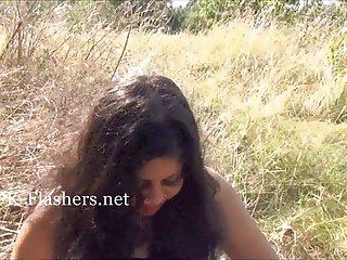 Chubby indian amateur Kikis public masturbation and exotic