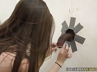 Elektra Rose Fucks Her First Black Cock At A Glory Hole