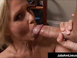 Hot Office Milf Julia Ann Gets A Big Load Of Cum On Her Face