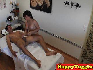 Asian masseuse jerks client on hidden spycam