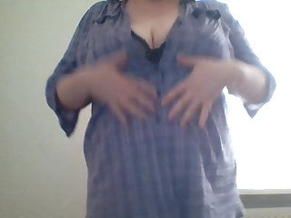 BBW Taking of blouse and bra