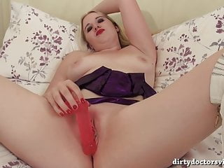 Mona Summers Solo Playtime on the Bed