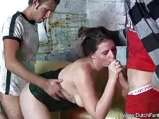 Threesome handjob Blowjob From Dutchie