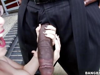 Petite blonde Penny Pax takes on big black dick