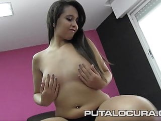 PUTA LOCURA Cute Teen in Spanish Gangbang